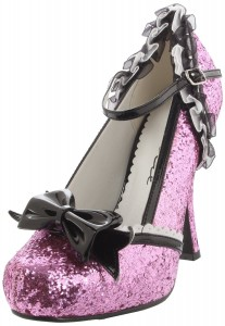 Ellie Shoes Women's 453-Lacey Glitter Pink Pump