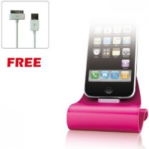 KONNET iCrado Plus Pink Metal Charging Dock / Stand for iPhone and iPod