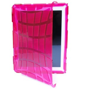 Translucent Hot Pink Hard Candy Street Skin Case for Apple iPad 2
