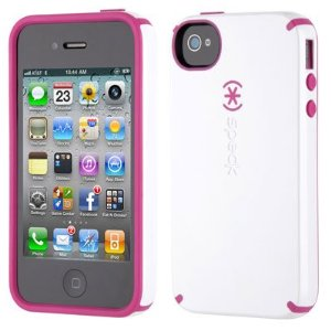 White and Pink RaspberryTruffle Candyshell Gloss iPhone Cover