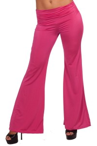 Hot Pink Gaucho Style Yoga Workout Gym Pants